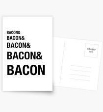 Funny Bacon Ampersands Shirt Humor Nerdy Postcards