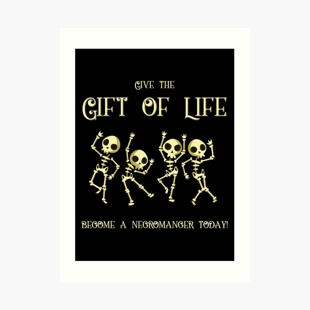 Da el regalo de la vida Conviértete en un nigromante hoy Lámina artística