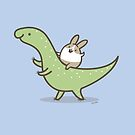 Bunny Rabbit on a Dinosaur by Zoe Lathey