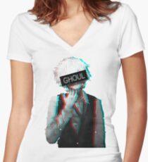 Tokyo Ghoul - Ken Kaneki Women's Fitted V-Neck T-Shirt
