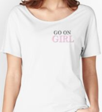 MMOB: Go On Girl Vol.1 (White) Women's Relaxed Fit T-Shirt