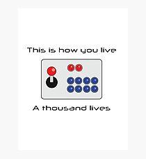 Gamer - Thousand Lives - Version 1 Photographic Print