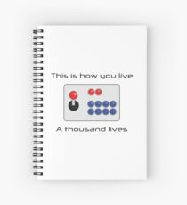 Gamer - Thousand Lives - Version 1 Spiral Notebook