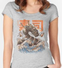 Great Sushi Dragon  Women's Fitted Scoop T-Shirt