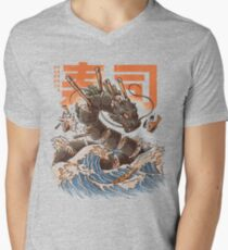 Great Sushi Dragon  Men's V-Neck T-Shirt