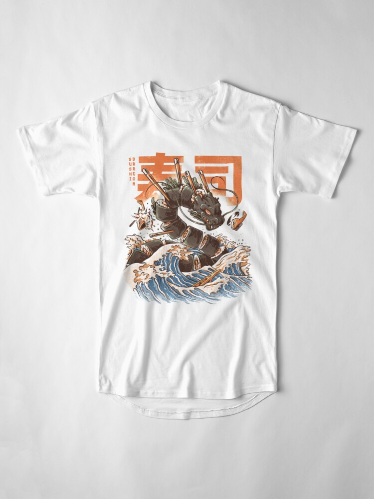 Alternative Ansicht von Großer Sushi-Drache Longshirt