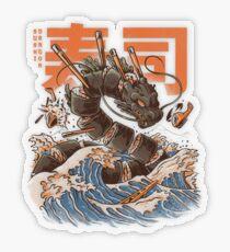 Great Sushi Dragon  Transparent Sticker