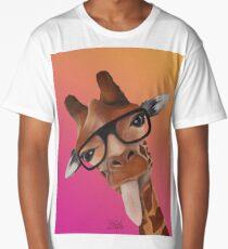 Girafe dégradé rose orange T-shirt long