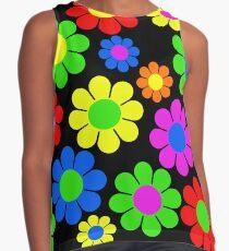 Hippie-Blumen-Gänseblümchen-Frühlings-Muster Kontrast Top
