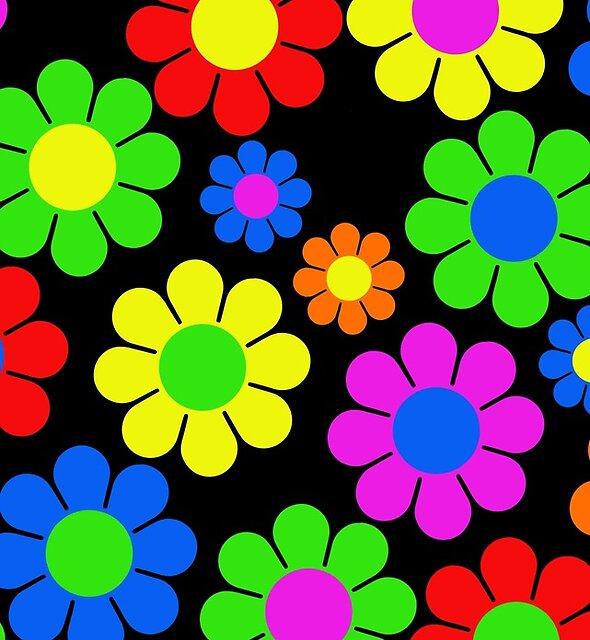 Hippie-Blumen-Gänseblümchen-Frühlings-Muster von hilda74