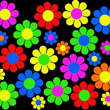 Hippy Flower Daisy Spring Pattern by hilda74