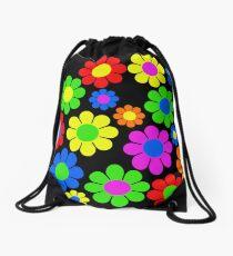 Hippy Flower Daisy Spring Pattern Drawstring Bag