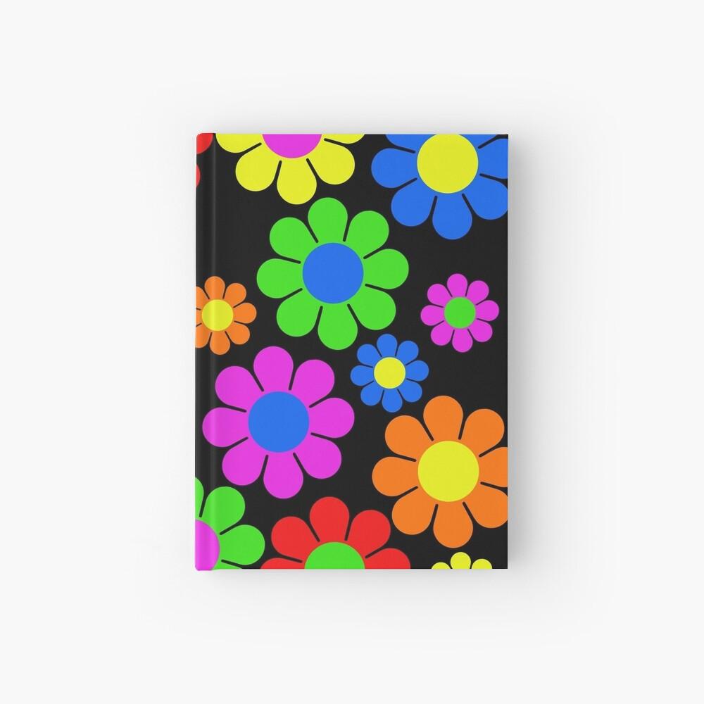 Hippy Flower Daisy Spring Pattern Hardcover Journal