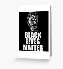 Tarjeta de felicitación Black Lives Matter Fist