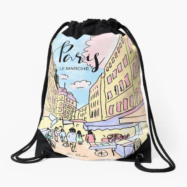 Paris I left by Alice Monber Drawstring Bag