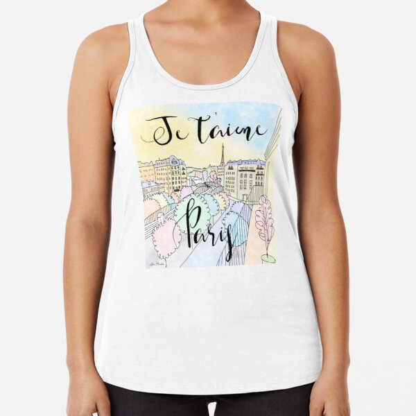 Je t'aime Paris by Alice Monber Racerback Tank Top