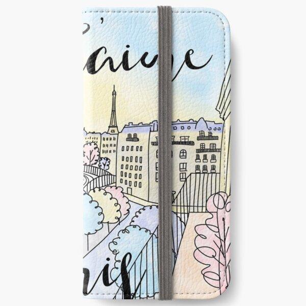Je t'aime Paris by Alice Monber iPhone Wallet