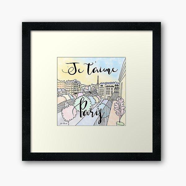 Je t'aime Paris by Alice Monber Framed Art Print