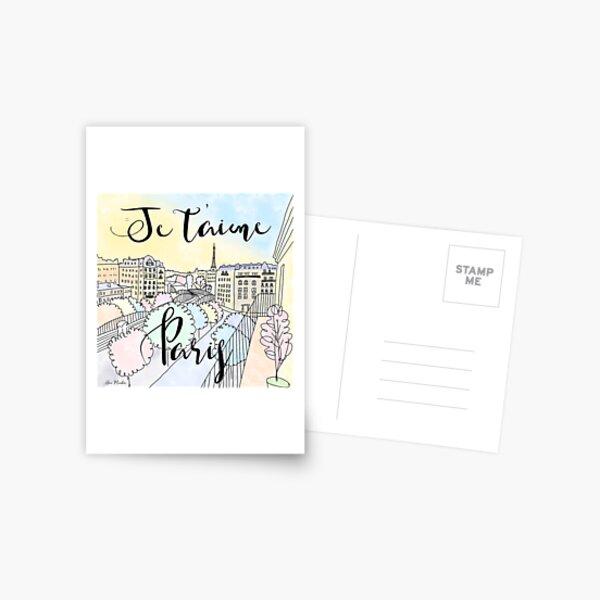 Je t'aime Paris by Alice Monber Postcard