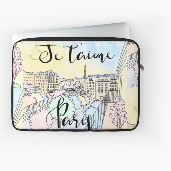 Je t'aime Paris by Alice Monber Laptop Sleeve