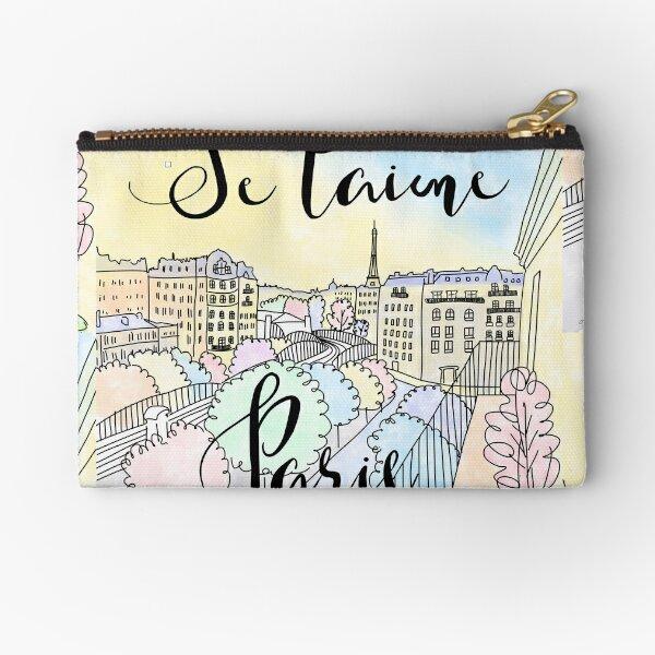 Je t'aime Paris by Alice Monber Zipper Pouch
