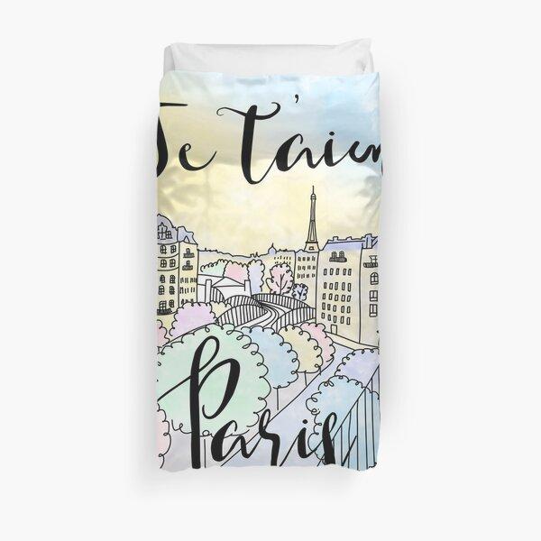 Je t'aime Paris by Alice Monber Duvet Cover
