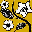 White Summer Flower Pattern by pda1986
