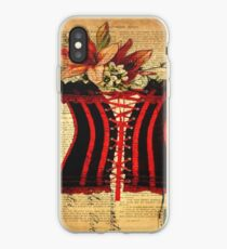dictionary print victorian steampunk vintage corset iPhone Case