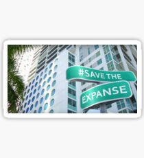 #SaveTheExpanse Street Sign Sticker