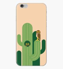 Burrowing owls and cacti vector illustration iPhone Case