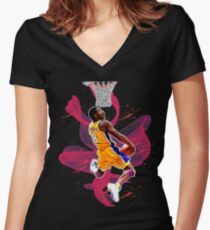 Behind The Back Dunk Women's Fitted V-Neck T-Shirt