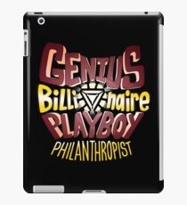 Tony Stark Quote iPad Case/Skin
