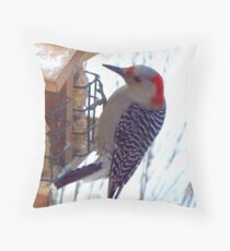 Mrs. Reba Red-Bellied Woodpecker Throw Pillow
