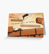 Nutella Cement Print Greeting Card