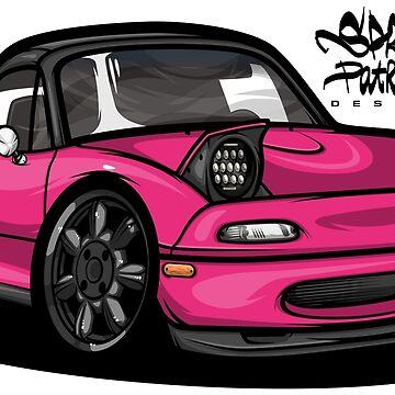 Clay's Mazda Miata PinkEdit '93 by SprayPatrick
