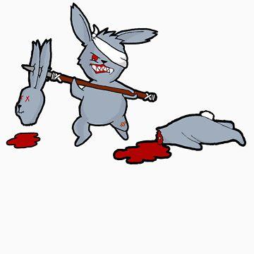 battle ridden bunny by happyartist
