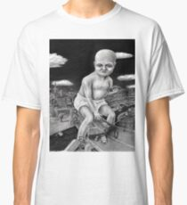 Attack of the Giant Baby - charcoal drawing Classic T-Shirt
