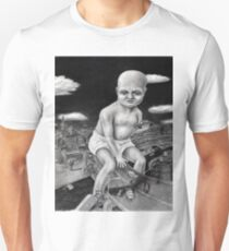 Attack of the Giant Baby - charcoal drawing Unisex T-Shirt
