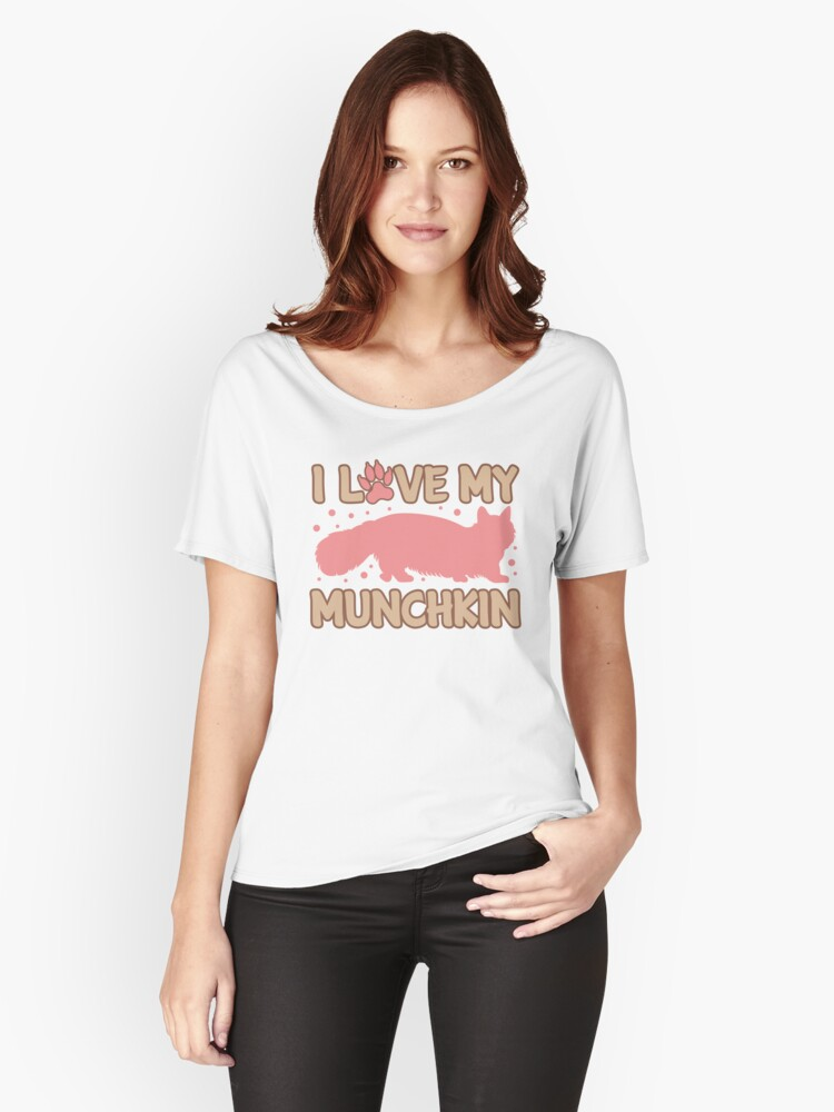 'Love My Munchkin Cat ' Women's Relaxed Fit T-Shirt by Dogvills
