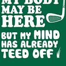 Lustiges Golf-Hemd, hat mein Verstand abgeknöpft von BootsBoots