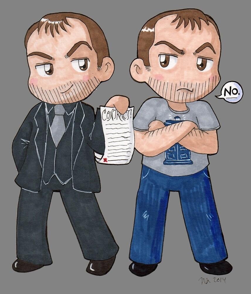 Mark and Crowley by Kosherart