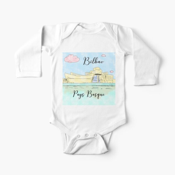 Bilbao Pays Basque by Alice Monber Long Sleeve Baby One-Piece