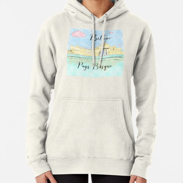 Bilbao Pays Basque by Alice Monber Pullover Hoodie