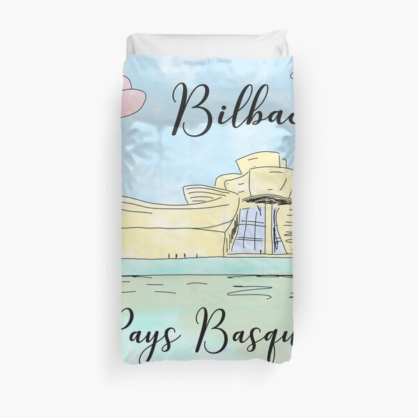 Bilbao Pays Basque by Alice Monber Duvet Cover