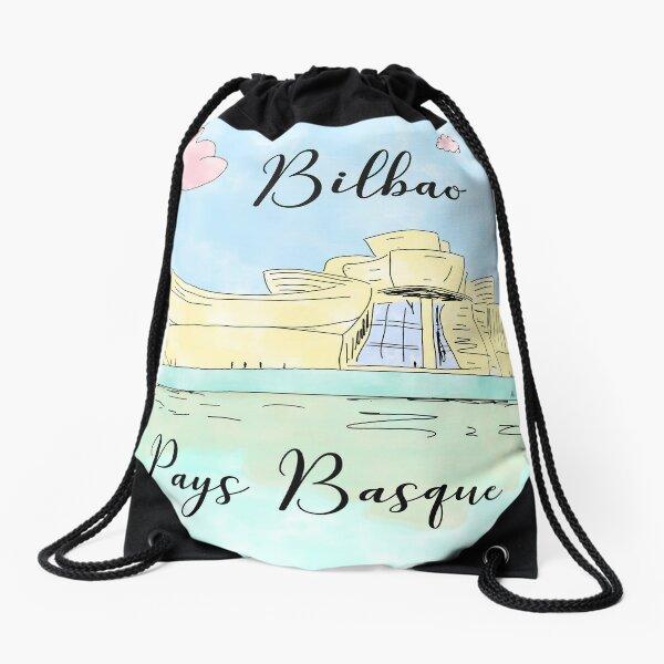 Bilbao Pays Basque by Alice Monber Drawstring Bag