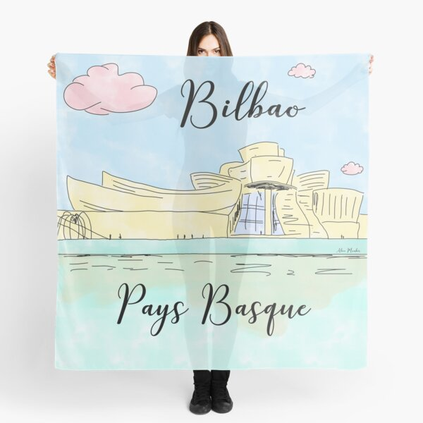 Bilbao Pays Basque by Alice Monber Scarf