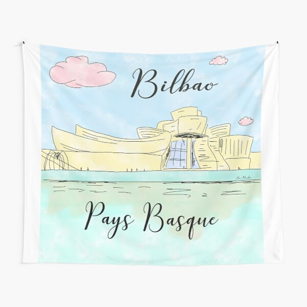 Bilbao Pays Basque by Alice Monber Tapestry