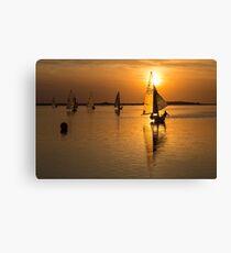 Sailing the Sunset Canvas Print
