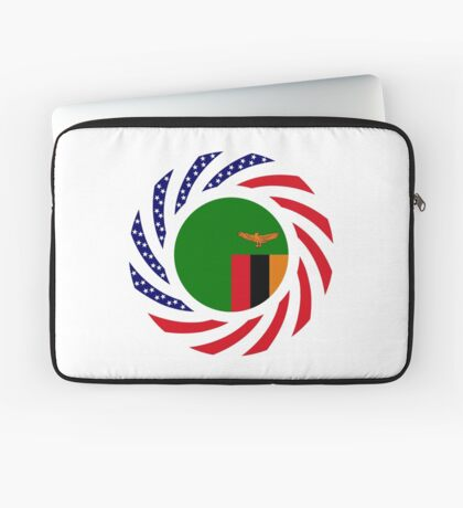 Zambian American Multinational Patriot Flag Series Laptop Sleeve
