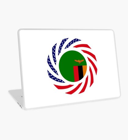 Zambian American Multinational Patriot Flag Series Laptop Skin